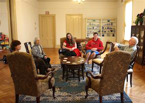 Meeting in the First Parish parlor