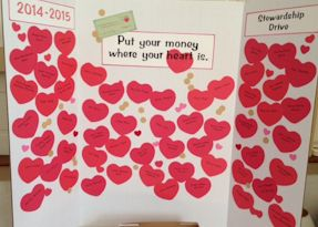 "Pledging during the 2014-2015 stewardship drive: ""Put your money where your heart is"""