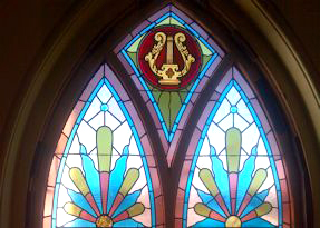 First Parish stained glass window